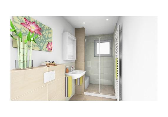 Visualisierung für kleines Duschbad