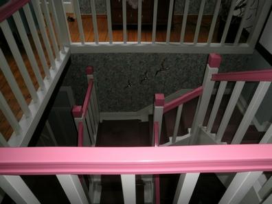 Lackierte Treppe