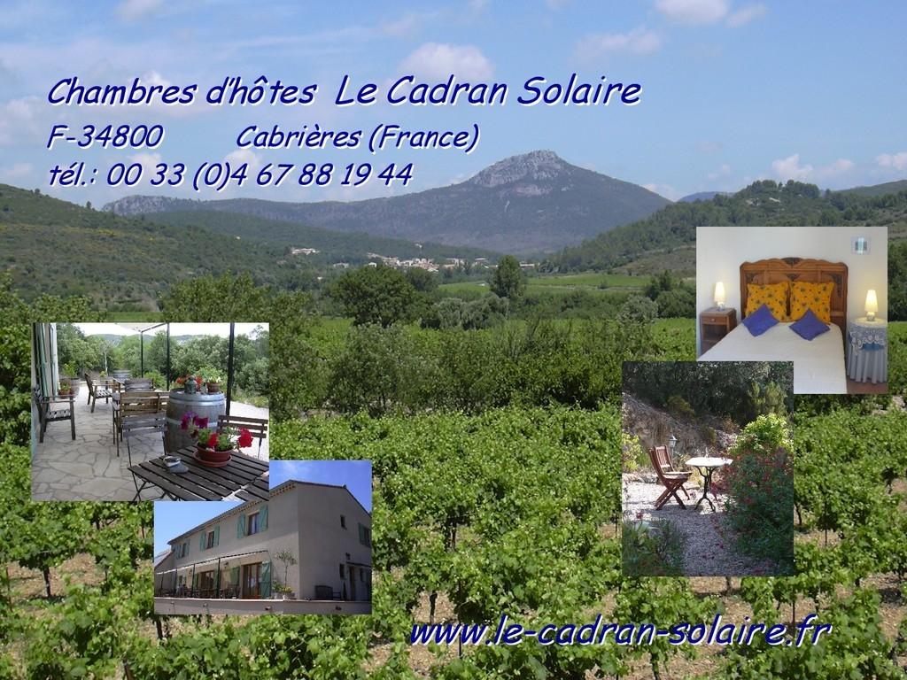 Chambres d'hôtes Le Cadran Solaire à Cabrières Hérault en Languedoc (France)
