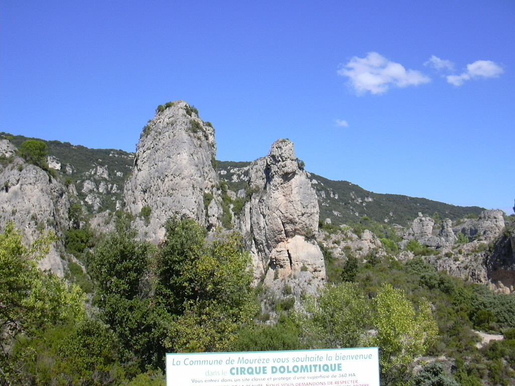 Le Cirque dolomitique de Mourèze