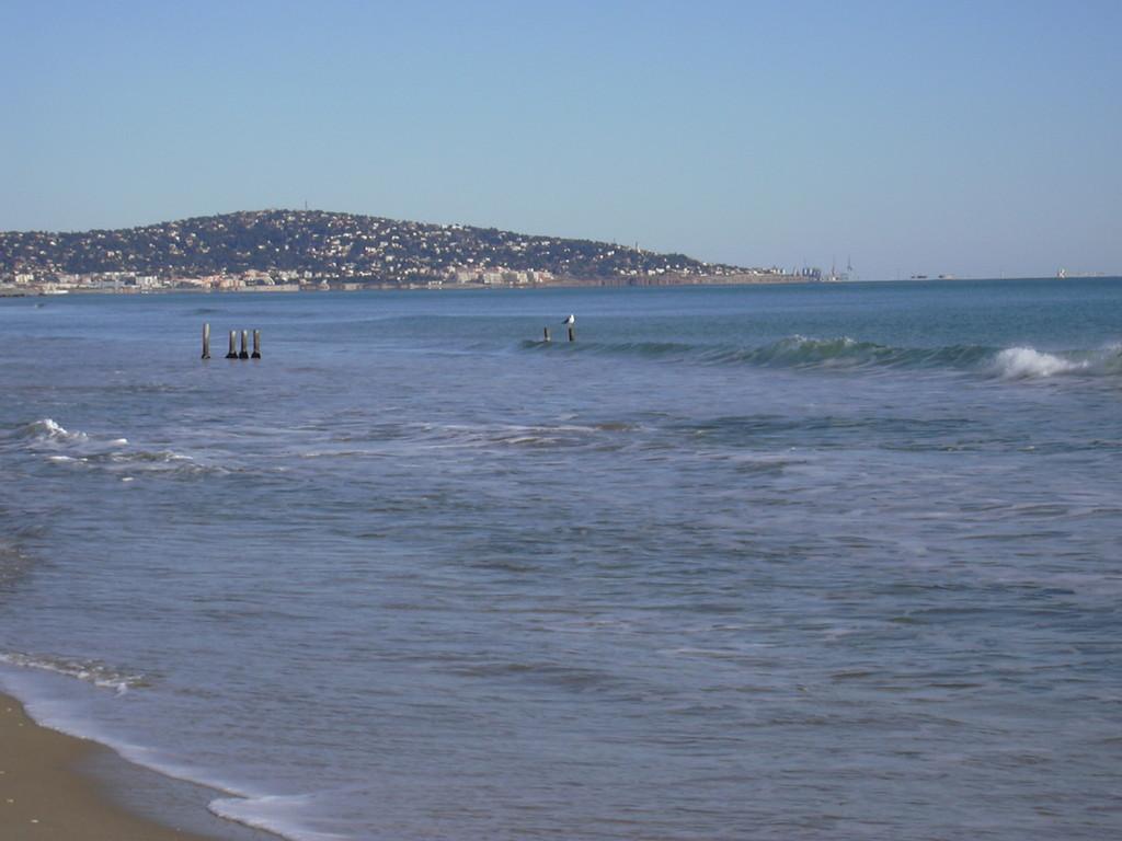 Mer Méditerranée, la vue sur Sète, l'île singulière