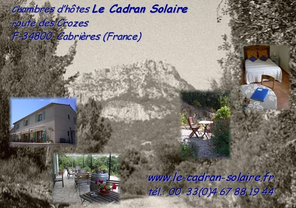 Chambres d'hôtes Le Cadran Solaire Gîtes de France Hérault 3 épis, Label Clef Verte
