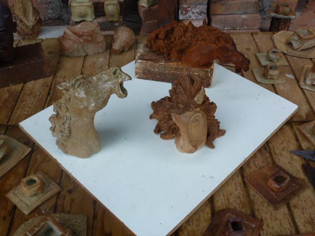 Sculptures - Caco - tout juste sorties du four à bois à Bouquet de Flammes