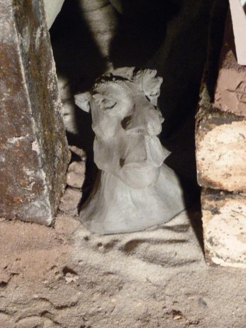 Sculpture grès cru - Caco -