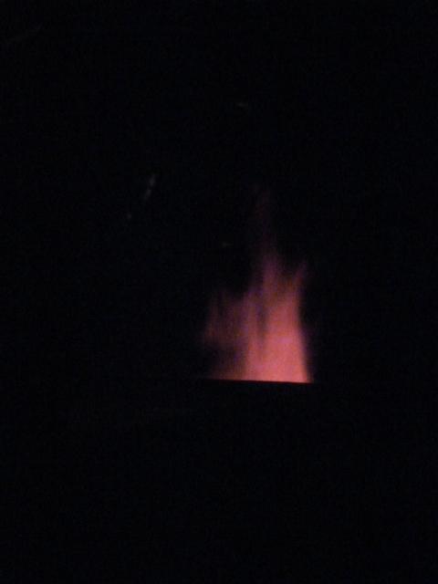 Flammes à la cheminée - Noborigama de Caco et Sylvie en cuisson -