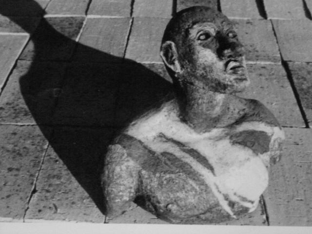 """"""" Buste """" Sculpture grès enfumé - Raku - Caco ...collection privée"""
