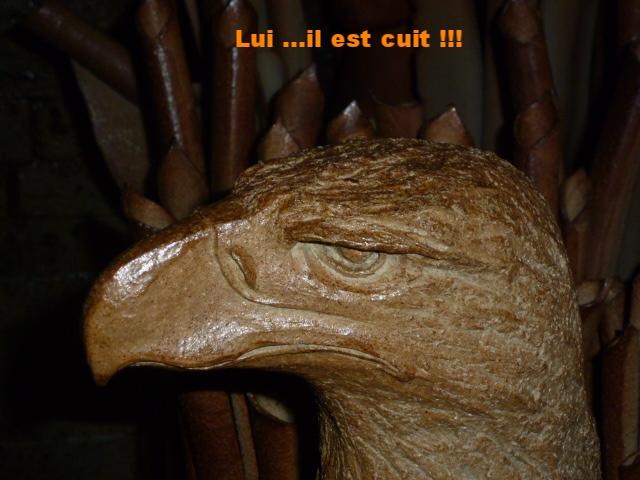 Sculpture de Caco à l'ouverture du four ...