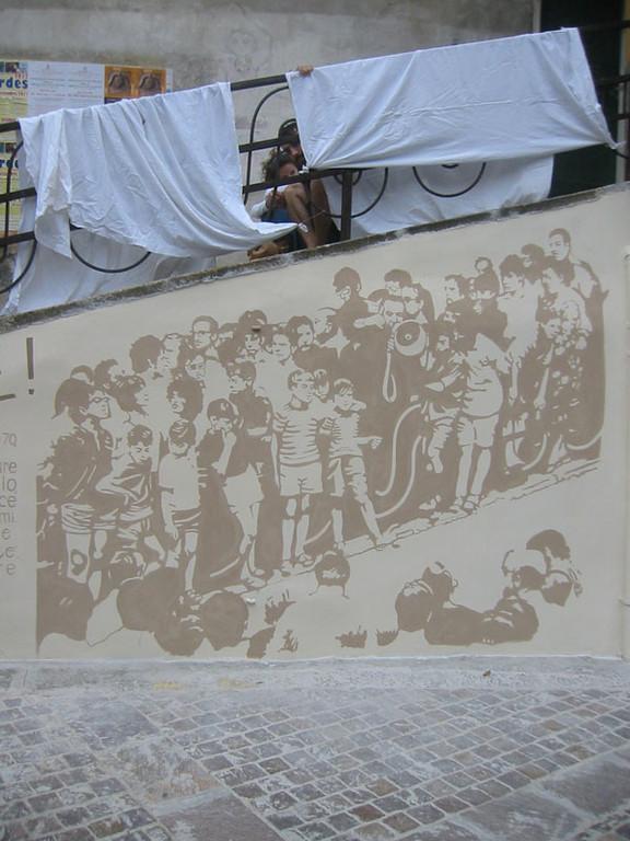 Tomgioco & Trasposizionivisive _ Murales per Don Gallo _ Piazza del Carmine _ Genova