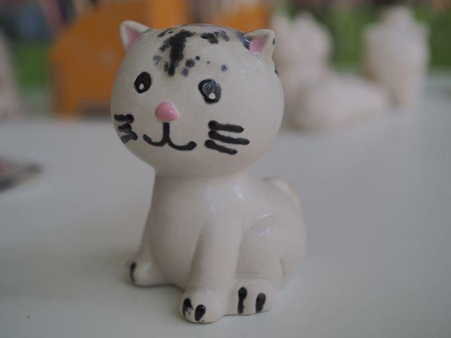 Katze bemalt