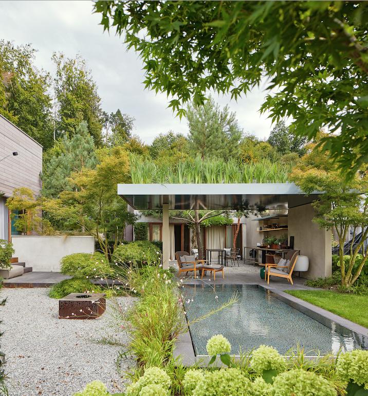 Schöner Garten, gestaltet von «Glowing Grass».