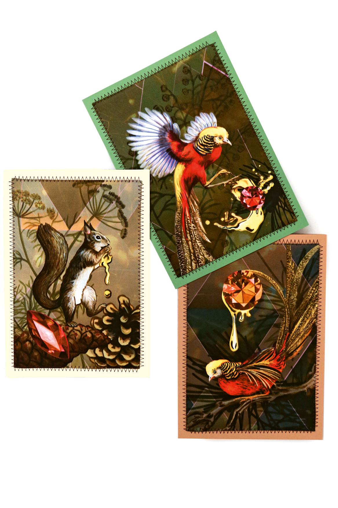 3er-Kartenset  zum Versenden oder Dekorieren (Format A5),  je Fr. 25.–