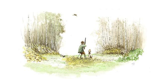 artiste peintre scène de chasse thibault de Witte
