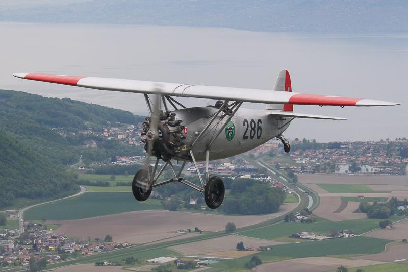 286, HB-RAG, Dewoitine, D-26, Hangar31, Montreux, Oldtimer, Flugzeug, Genfersee, Rhonetal, Air to Air