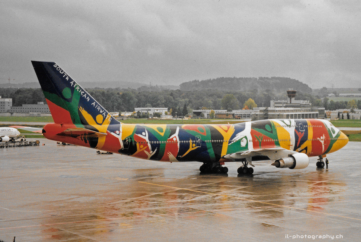 Boeing B747-300, South African Airways, ZS-SAJ, Zürich Kloten, Ndizani