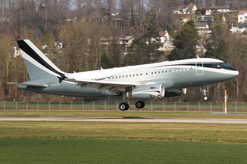 Airbus, ACJ319, a319 dmitry rybolovlev, sophair, m-kate, bern, lszb, brn, berne