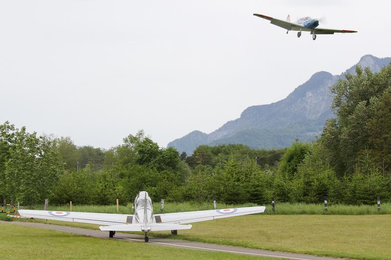 In Bex war dann die ganze Zeit reger Flugbetrieb mit den Teilnehmern des Displaytrainingkurses.