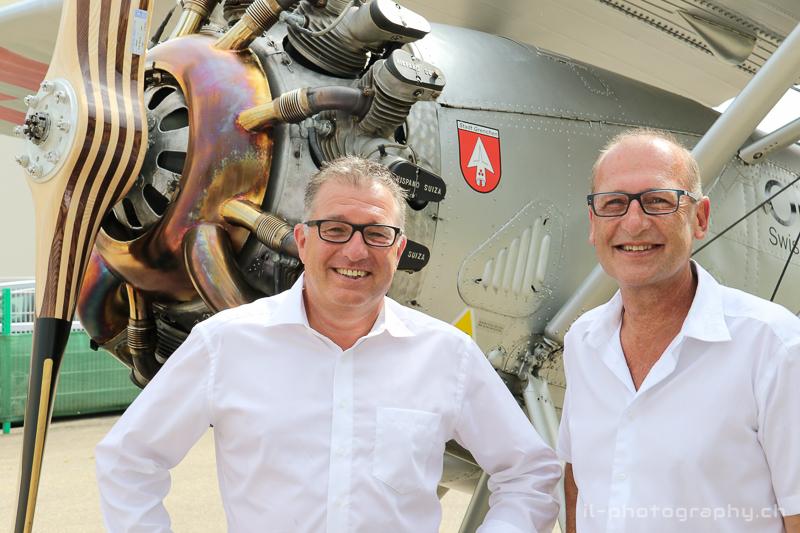 ...aber auch an Adrian Heer und Paul Wermelinger von der RUAG, welche einen grossen Beitrag an den erhalt der Flugtücktigkeit der Dewoitine D.26 geleistet haben.