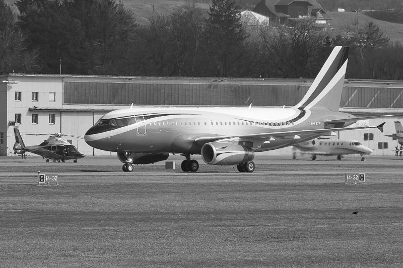 Airbus, ACJ319, a319 dmitry rybolovlev, sophair, m-kate, bern, lszb, brn, berne, eurocopter, G-scor, ec155