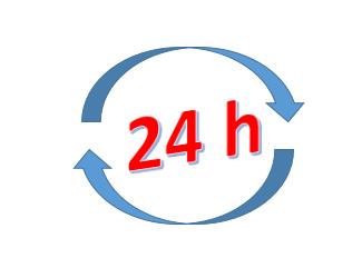 Logo zur Anzeige der 24 Stunden Erreichbarkeit per Telefon