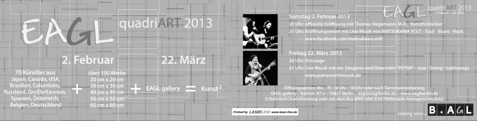 EAGL quadriART 2013 Flyer © EAGL gallery BERLIN