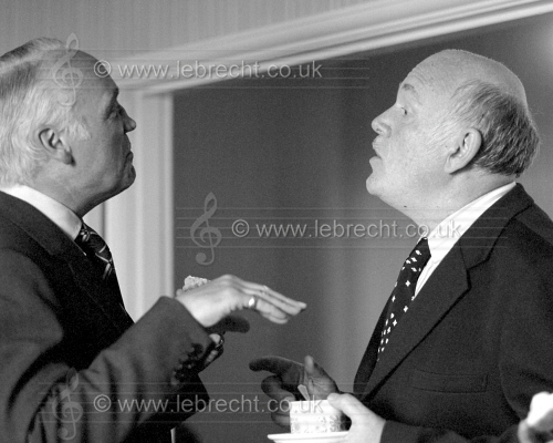 Bill Servaes general manager of the Aldeburgh Festival and Sviatoslav Richter at Aldeburgh Festival in 1975