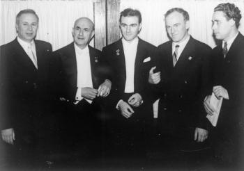 Пражская весна-1954. Мартынов И.И., Джорджеску, В. Георгиу, С.Т. Рихтер, Корнеев А.В.