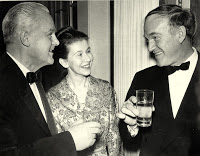 dec.21, 1960 - with Soviet Ambassado Mikhall Menshikov and Mrs. Romuald Spasowski, wife of the Polish ambassador