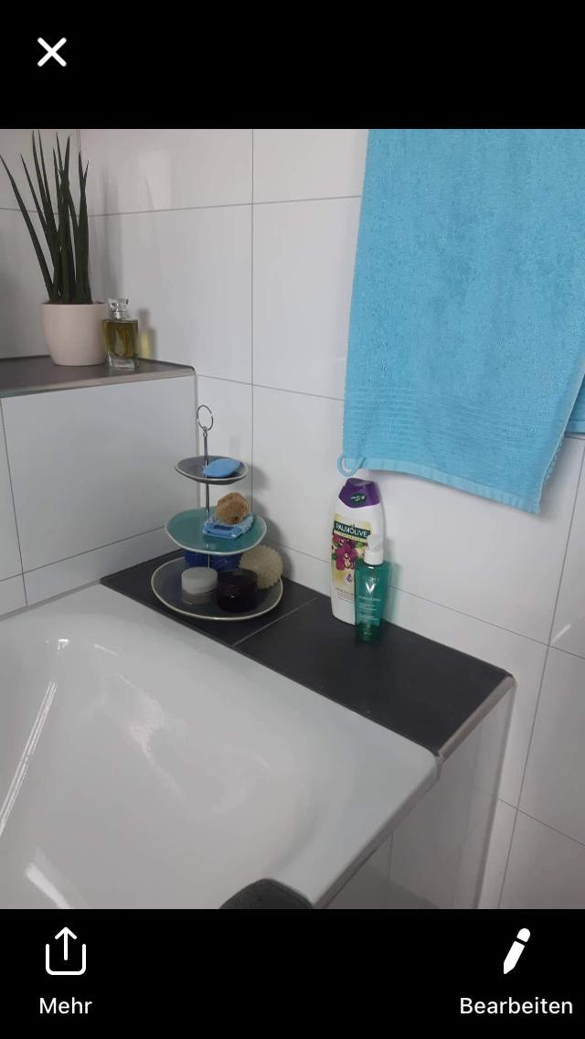 Auch im Badezimmer machen sich meine Etageren sehr gut