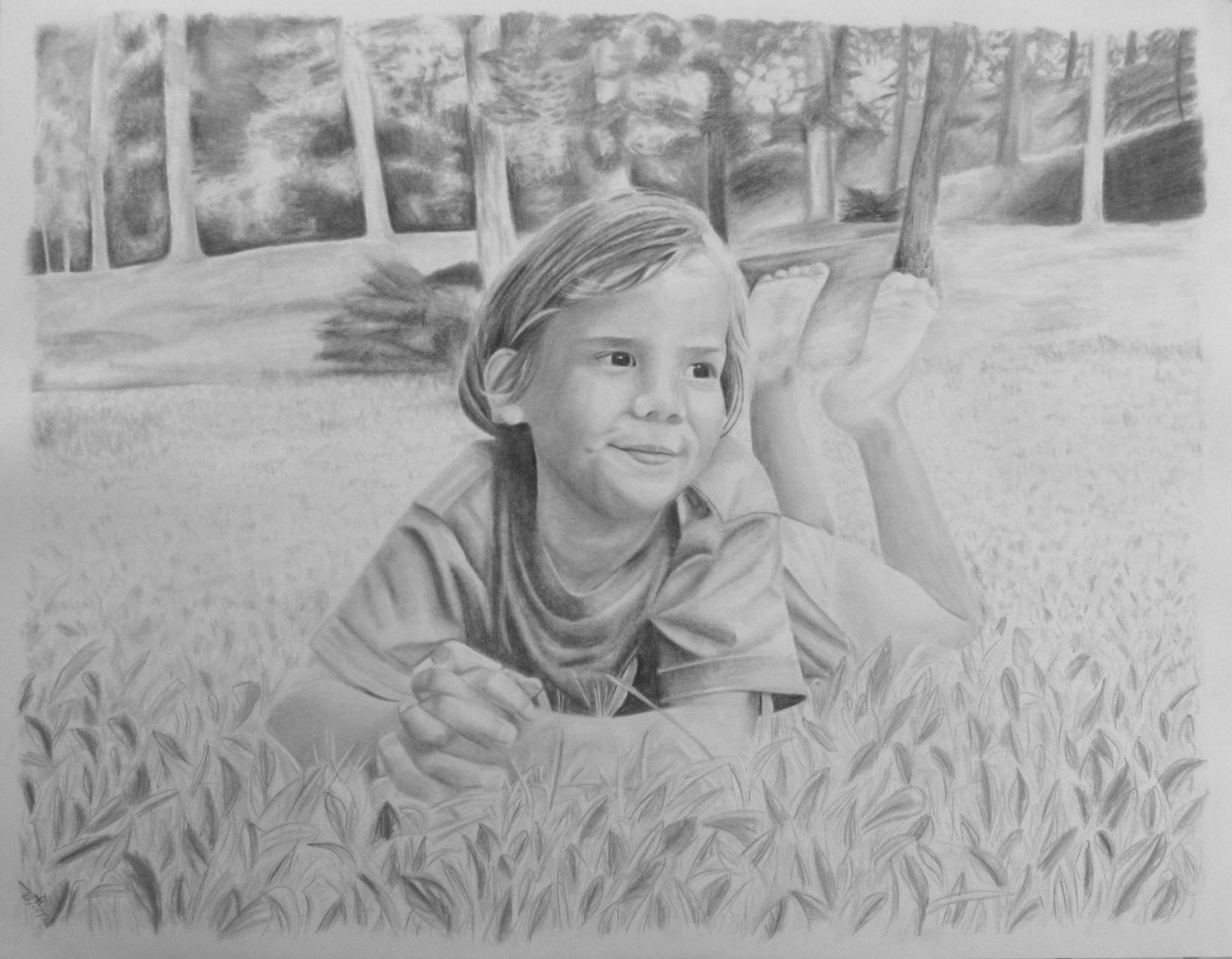 2014 - Commande - Charlotte - Format raisin - Crayon