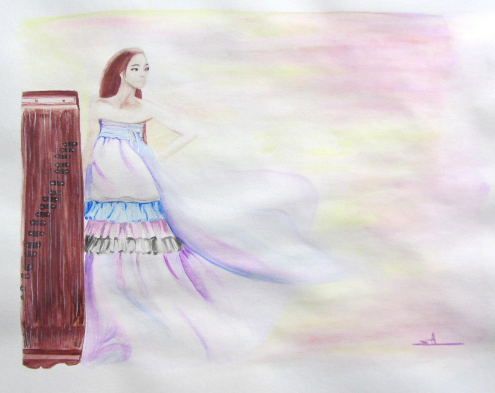 Hanbok Lynn - A3 - Aquarelle