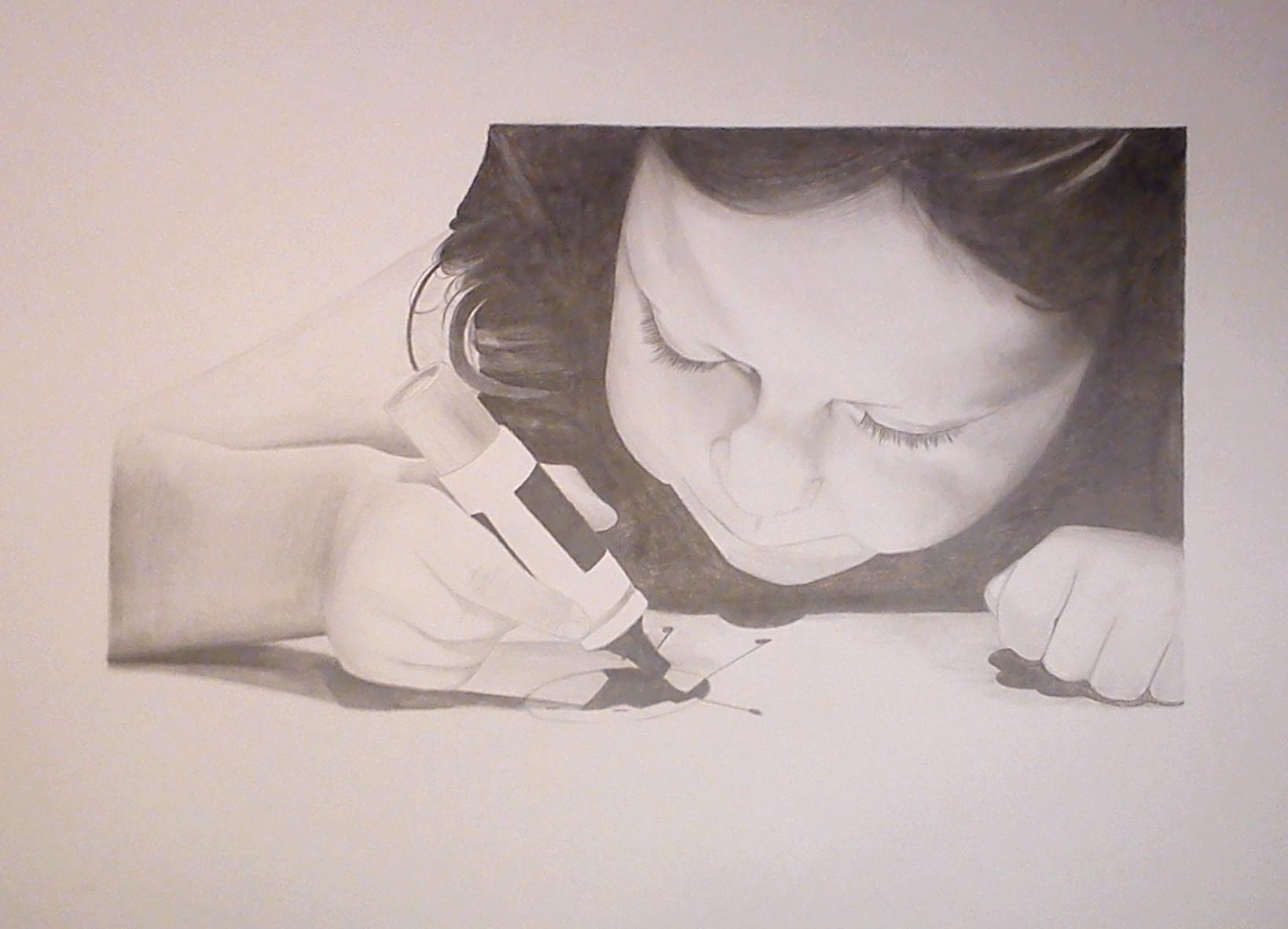 2011 - Yolaine - raisin - Crayon
