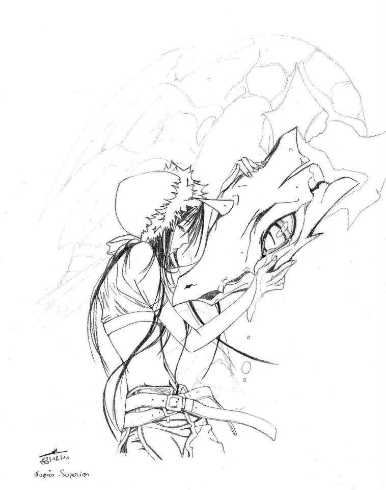 Manga Superior - Dessin n°4 - contours