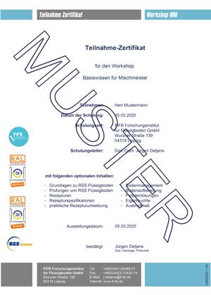 Schulung Mischmeister RSS Flüssigboden Zertifikat FiFB