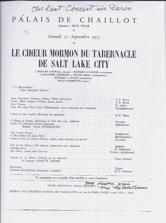Paris concert program