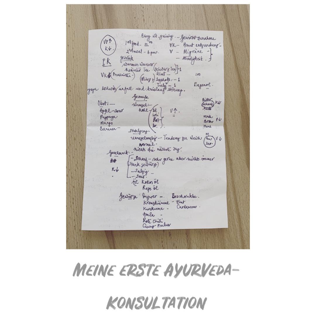 Meine erste Ayurveda-Konsultation