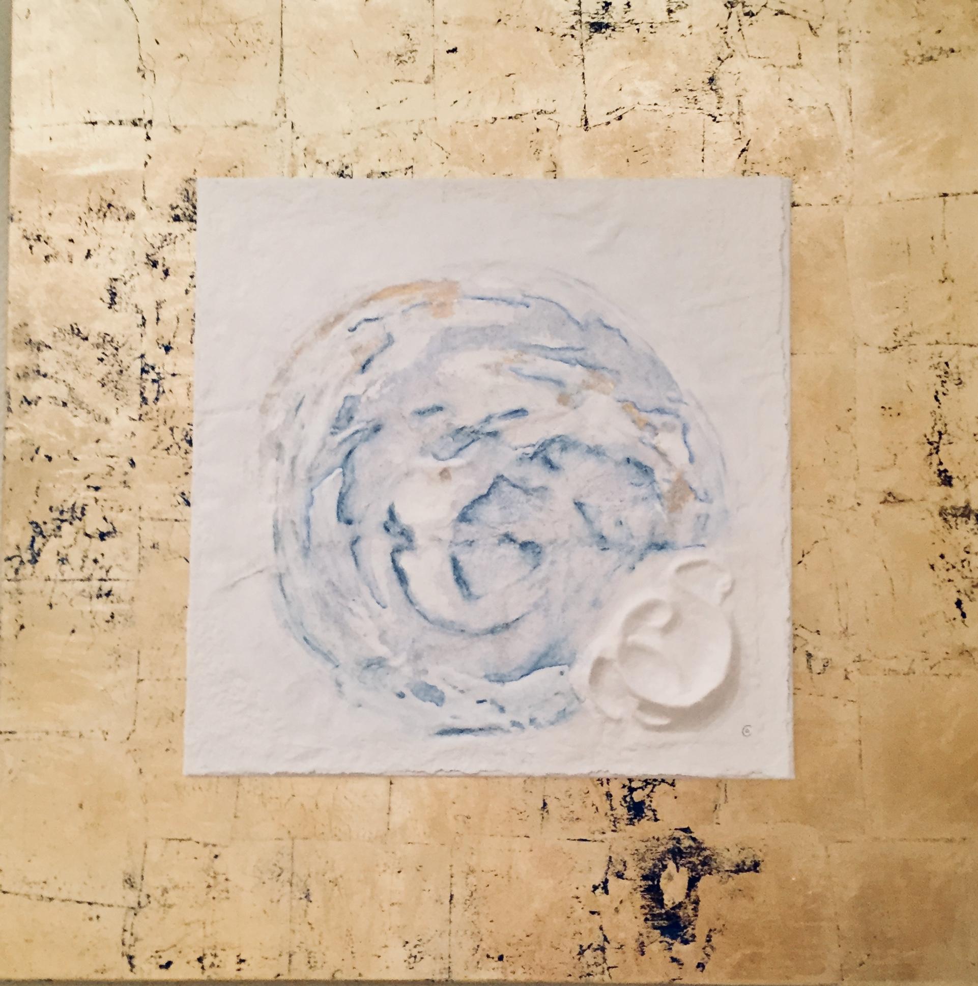 Sternzeichen Zwilling, handgeschöpftes, geprägtes und energetisiertes Papier - coloriert