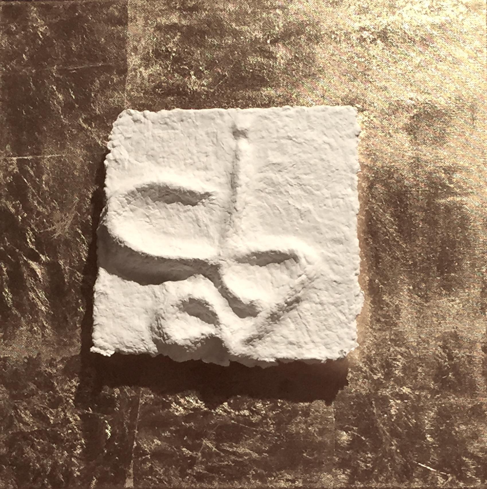 Sternzeichen Skorpion - handgeschöpftes, geprägtes und energetisiertes Papier - auf Blattmetall