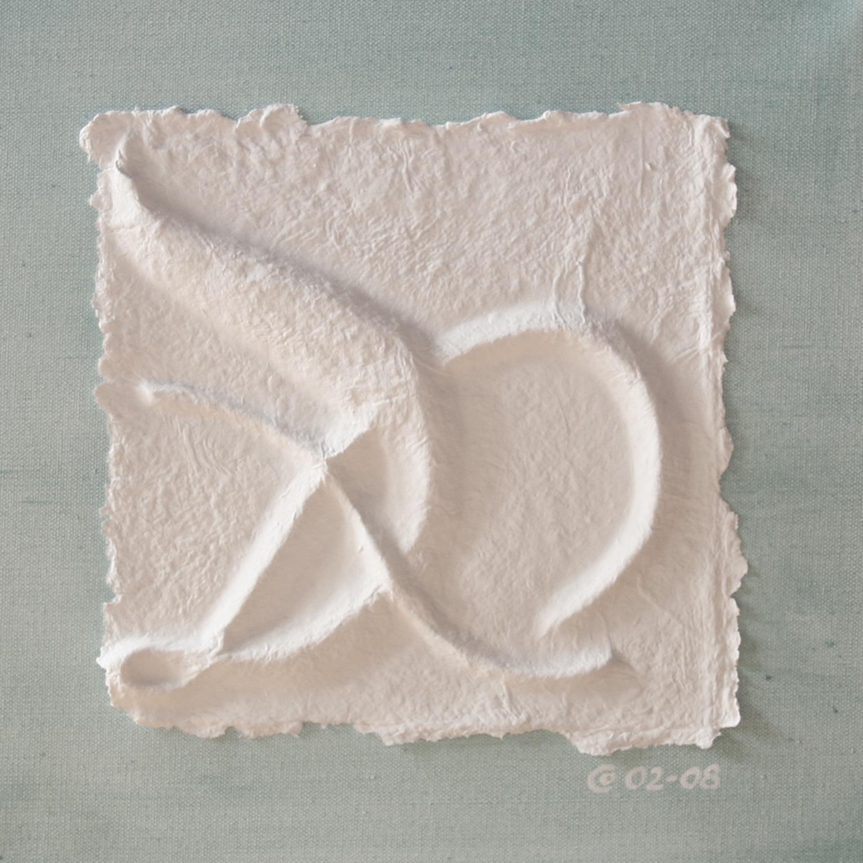 """Bachblüten-Essenz """"Quell-Wasser""""- handgeschöpftes, coloriertes und geprägtes Papier, von SUSHMA Cornelia Bühler"""