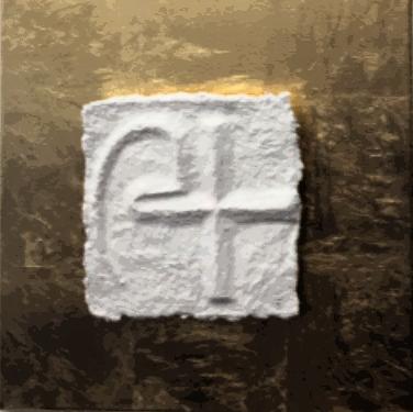 Sternzeichen Steinbock - handgeschöpftes, geprägtes und energetisiertes Papier - auf Blattmetall