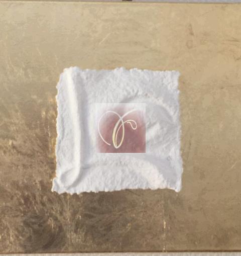 Sternzeichen Stier - handgeschöpftes geprägtes und energetisiertes Papier auf Blattmetall