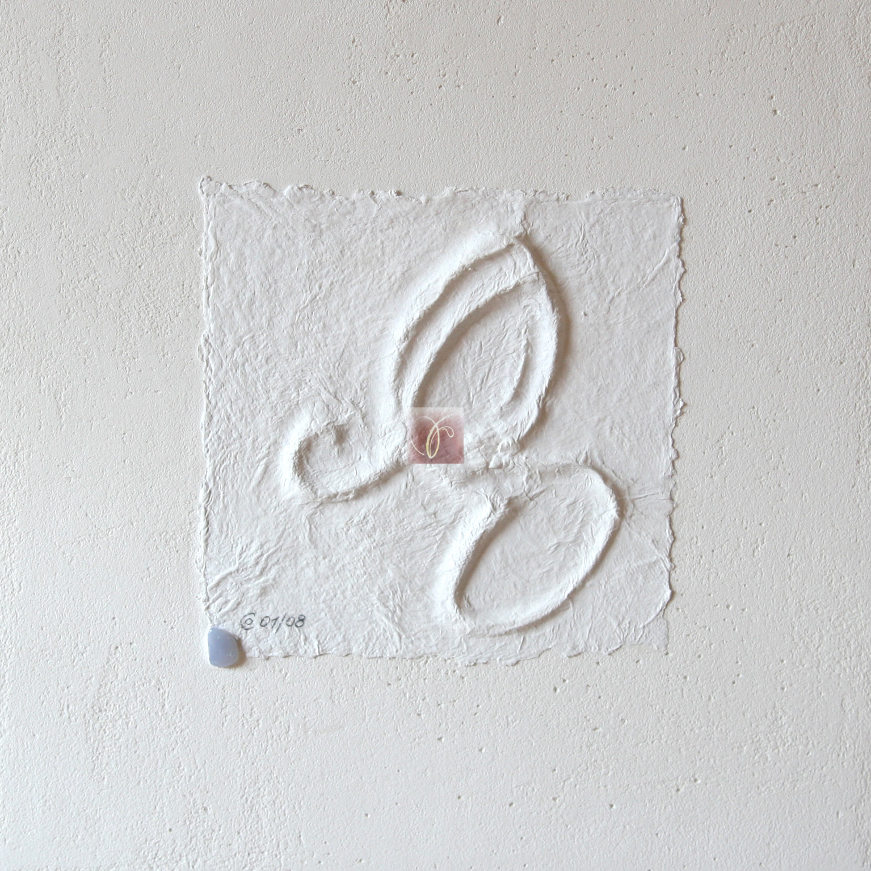 """Bachblüten-Essenz """"Cerato""""- handgeschöpftesund geprägtes Papier, von SUSHMA Cornelia Bühler"""