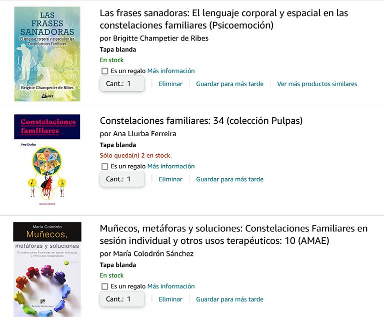 Consteller en espagnol en France : constelaciones familiares, libros y talleres.