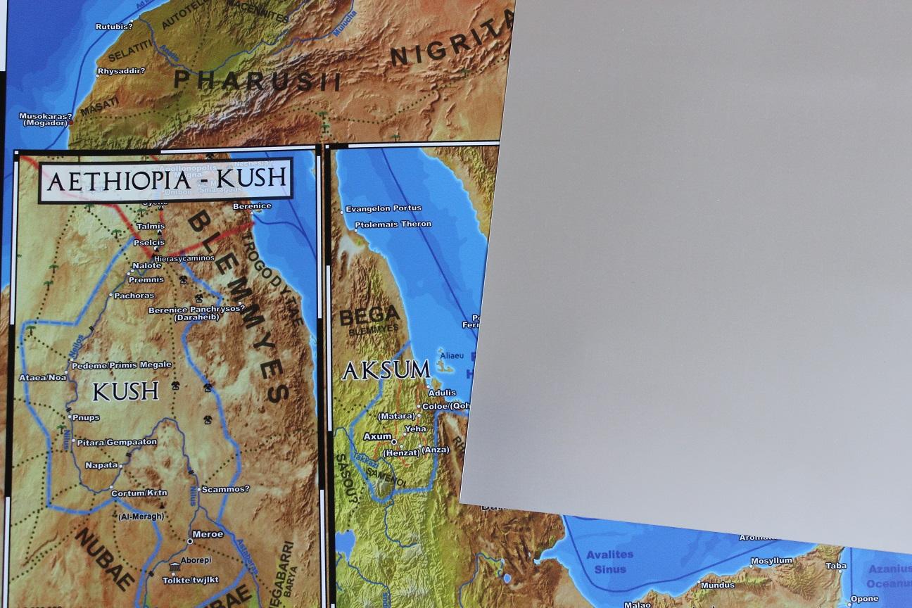 Die Imperium Romanum Karte gedruckt auf matter Polyesterfolie