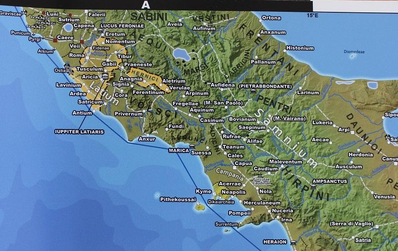 Zentral Italien auf einem Standarddruck