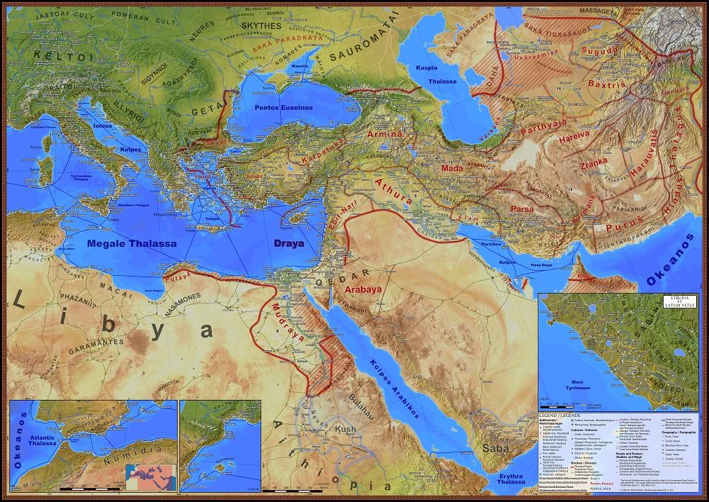 Karte des Perserreichs
