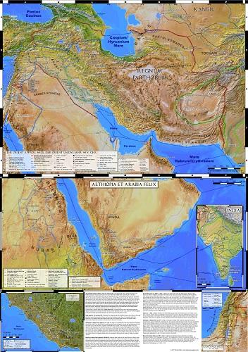 Karten des Partherreichs und der Staaten rings um das Rote Meer