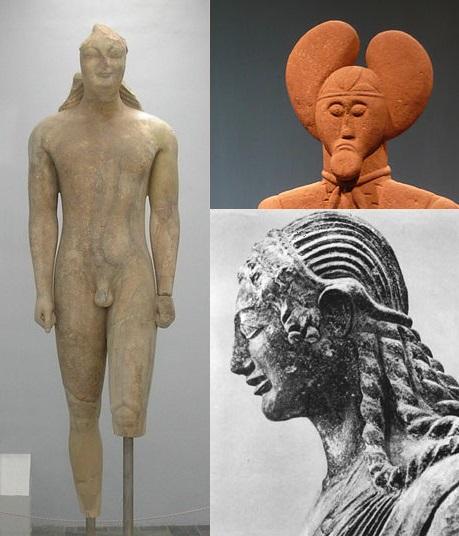 Statuen der archaischen Zeit