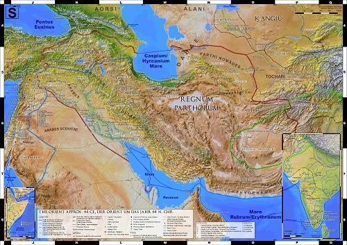 Karte des Partherreichs