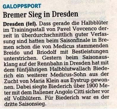 Weser-Kurier 21.11.2013