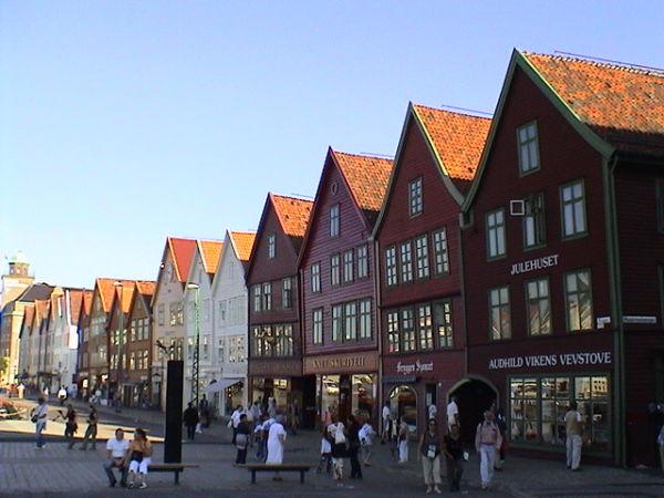 Die Altstadt mit ihren Handelshäusern (Bryggen)